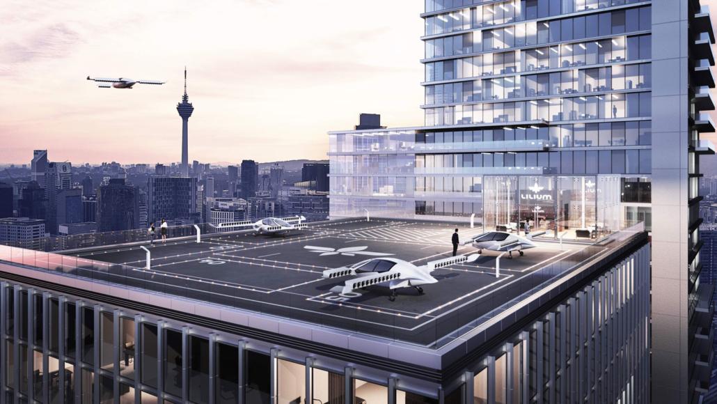 Landezone Flugtaxi Innenstadt